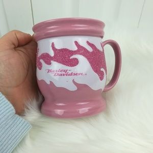 Harley-Davidson pink glitter flame mug